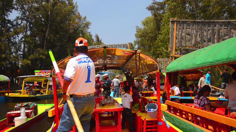 Xochimilco Canal in Mexico City Footage
