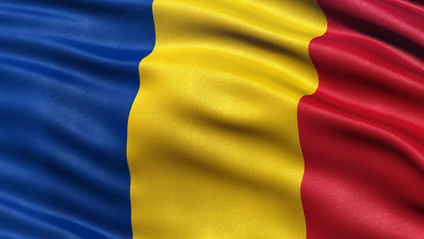 4K Romania flag seamless loop Ultra-HD Animation