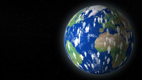 earth human overpopulation destroy planet with text space 4k 11780 Animation