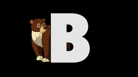 Letter B and Bear (background) Animation