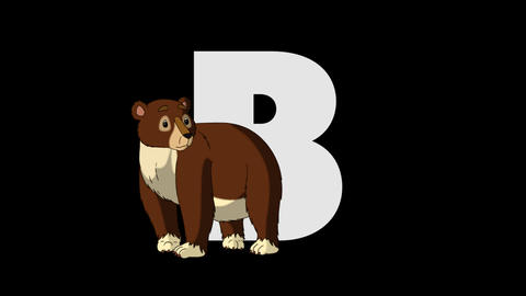 Letter B and Bear (foreground) Animation