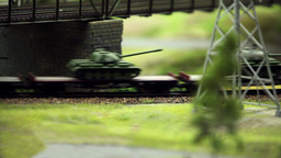 Freight train with panzer Footage