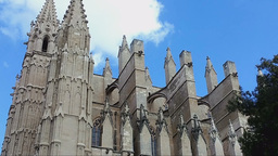 The Cathedral Santa Maria Of Palma, Mallorca Island Footage