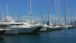 Yachts In The Port Of Palma De Mallorca Footage