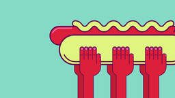 Hot dog funeral Animation