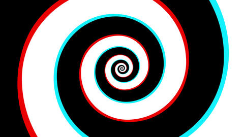 Spiral Illusion Animation CG動画素材
