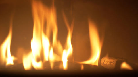Romantic fire in the fireplace Footage