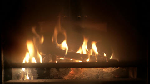 Iron fireplace Footage