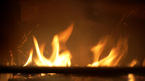 Fireplace flame Footage