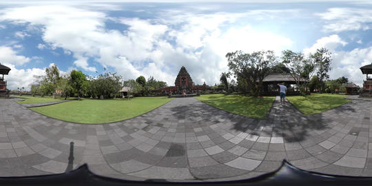 360VR video of Taman Ayun Temple in Mengwi in Bali, Indonesia Live Action