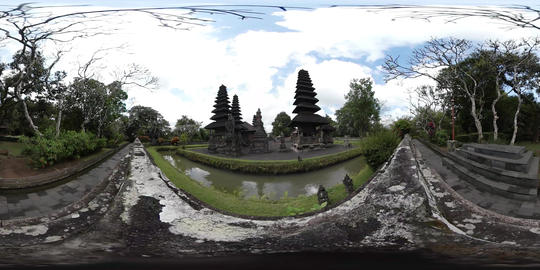 360VR video of Taman Ayun Temple in Mengwi in Bali, Indonesia Footage