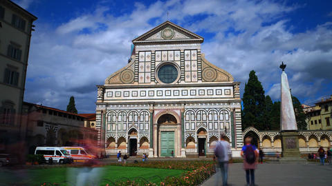 Time lapse of Basilica Santa Maria Novella, Florence Footage