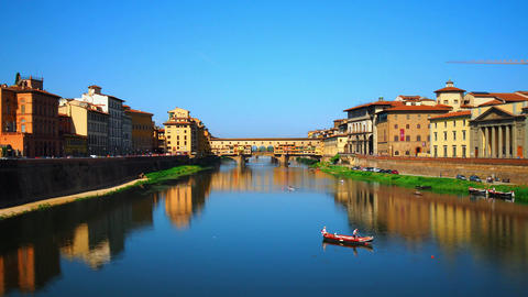 Time lapse of Ponte Vecchio, Florence Footage