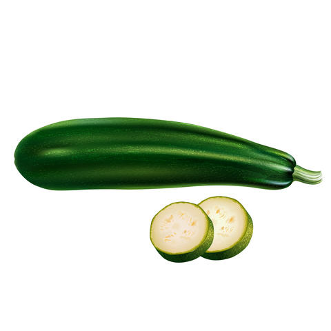 Zucchini on white background フォト