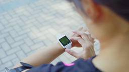 Woman use of smart watch and cellphone影片素材