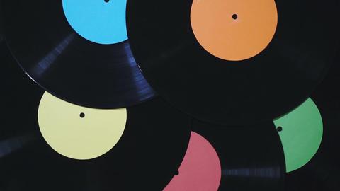 Vinyl records rotate Archivo