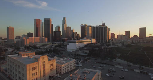 From The Bushes Into Downtown Los Angeles Footage