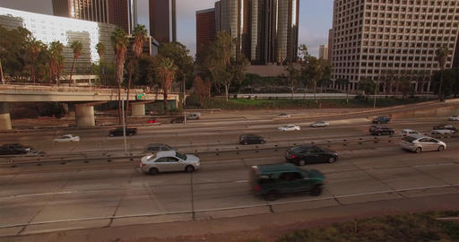 Moving With Freeway Traffic Combo Footage