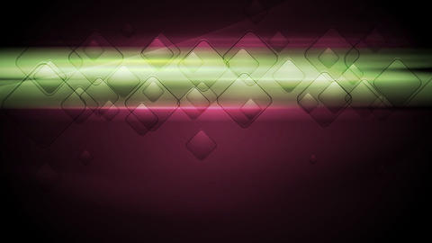 Glowing green stripes and squares on purple background clip Animation