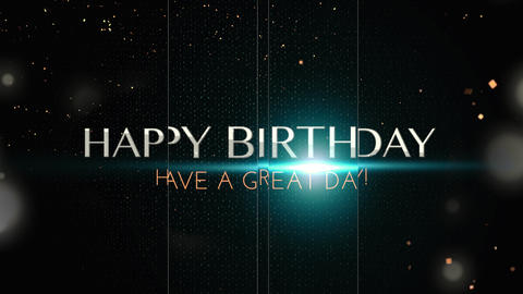 birthday title 02 Animation