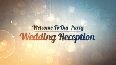 wedding title 03, Stock Animation