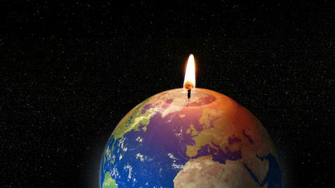 global warming earth candle animation 4k 11782 Animation