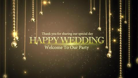 wedding title 06, Stock Animation