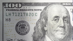 bill hundred dollars dolly close-up Footage