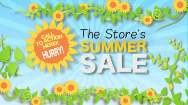 Summer Sale stock footage