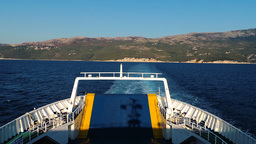 Ferryboat Rijeka Cres Island Kvarner Gulf Adriatic sea white blue sea water Footage