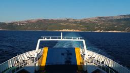 Ferryboat Rijeka Cres Island Kvarner Gulf Adriatic sea white blue sea water Footage