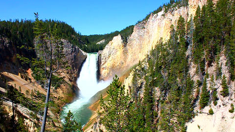 Lower Falls of the Yellowstone Footage