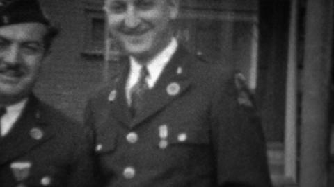 1945: World War 2 decorated uniformed veterans hero medals Footage