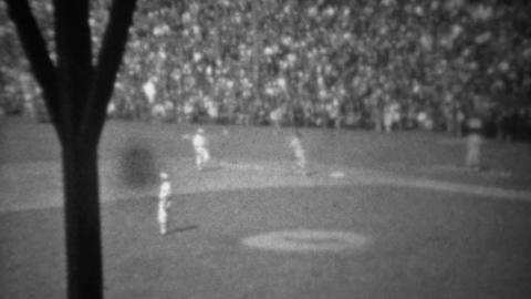 1946: USA baseball sport resumes after WW2 batter gets hit Footage