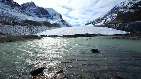 Athabasca Glacier Jasper National Park Footage