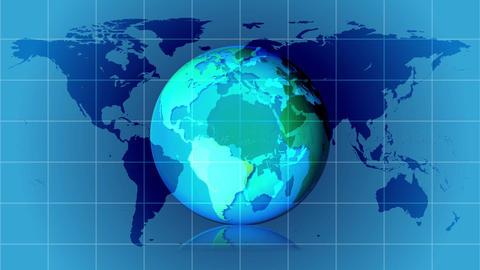 earth global rotation grid Animation