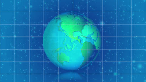earth global rotation grid Animation