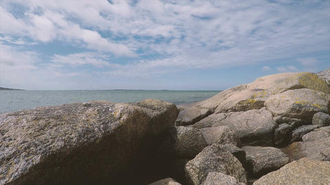 Nature scene with rocks and ocean Live Action