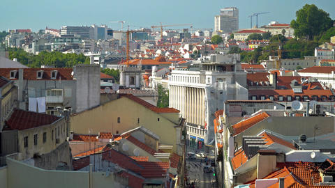 Aerial View Of Lisbon City In Portugal Image