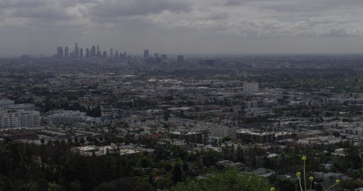 City Skyline from a Hill Footage