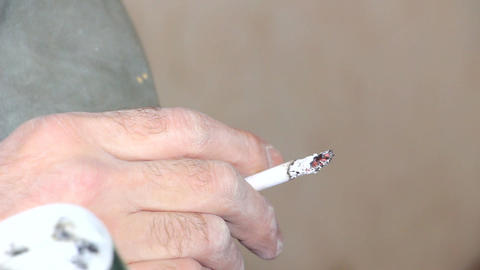 Cigarette in the hands Footage