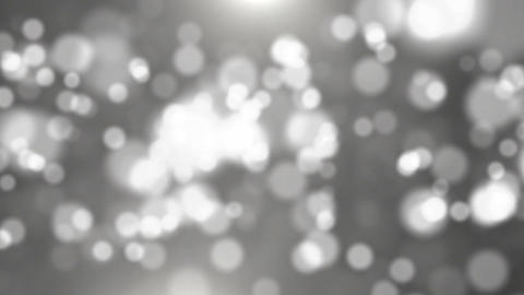 Abstract bokeh black and white particles Footage