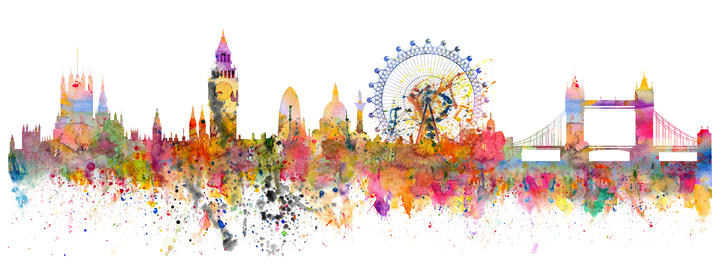 Abstract illustration of the London skyline フォト