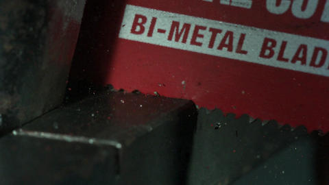 Sawing Through Metal Background Footage