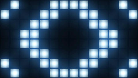 Strobe Lights Flashing Background Vj Loop Blue Lights Board Wall of Lights Animation