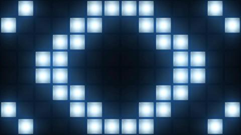 Strobe Lights Flashing Background Vj Loop Blue Lights Board Wall of Lights Animation