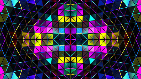 Colorful 3d Vj Stage Loop 4k CG動画素材