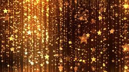 Christmas Glittering Stars Gold Background Animation