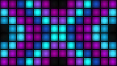 VJ Colorful Box Lights Flashing Lights Bulb Wall of Lights Stage VJ Loop Animation
