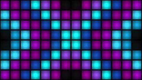 VJ Colorful Box Lights Flashing Lights Bulb Wall of Lights Stage VJ Loop Animation